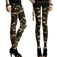 Women Casual Leggings HOT Summer Elastic High Waist Fitness Exercises Camouflage