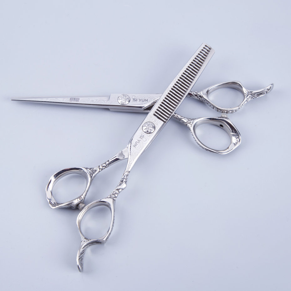 SI YUN 6.0inch (17.00cm) אורך DPS60 דגם של מספריים חיתוך שיער