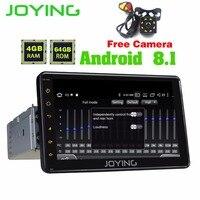 Радуясь 4 Гб 7 дюймов 1DIN GPS автомобильный радиоприёмник ANDROID 8,1 HD магнитофон рулевое колесо dvd плеер с JPS и навигацией Поддержка рулевого колес