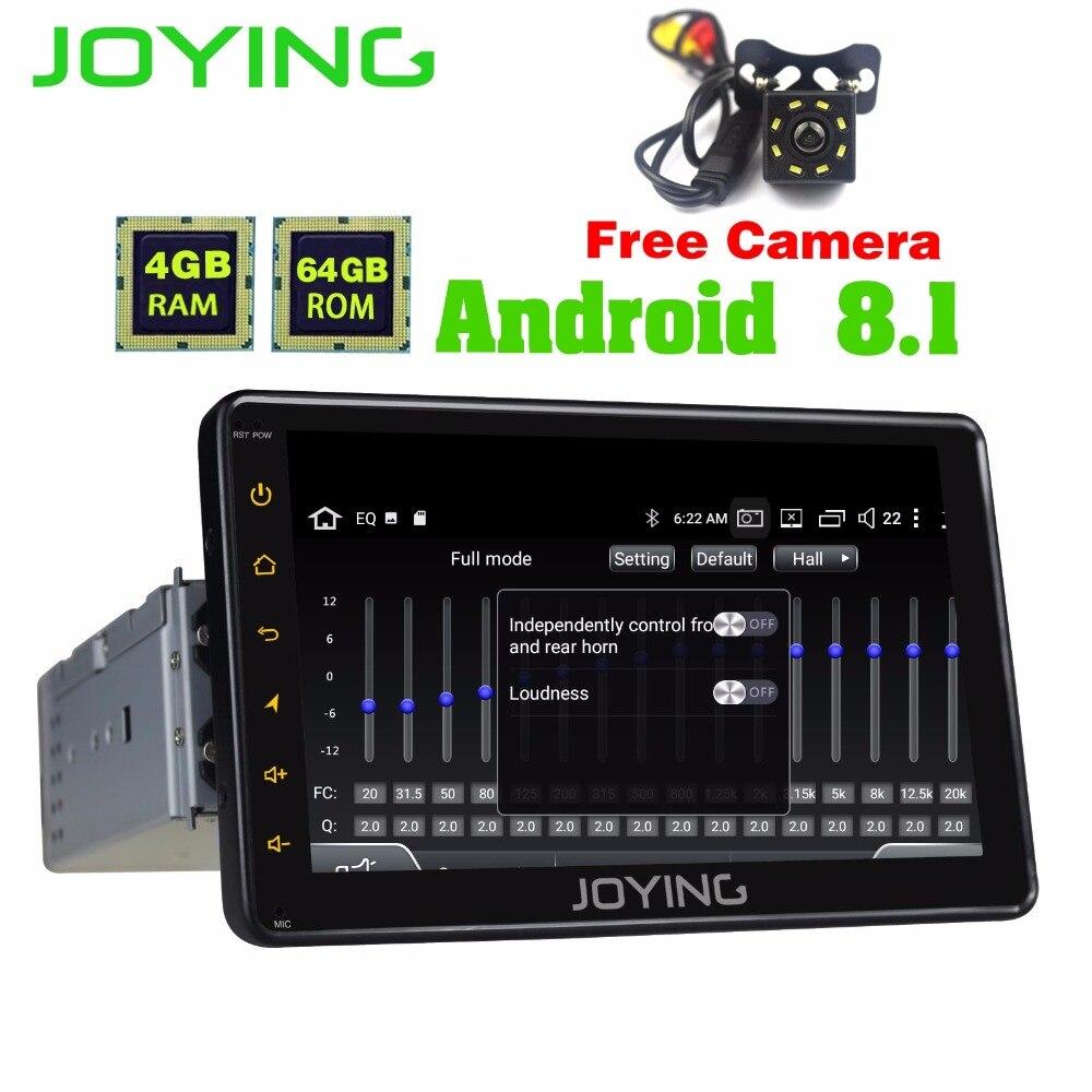 JOYING 4 gb 7 pollici 1DIN GPS AUTO RADIO ANDROID 8.1 HD registratore a Nastro VOLANTE GPS NAVI Lettore volante di sostegno/carplay