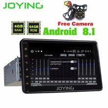 JOYING 4GB 7inch 1DIN GPS CAR RADIO ANDROID 8.1 HD Tape recorder STEERING-WHEEL GPS NAVI Player support steering wheel/carplay