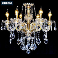 SHIXNIMAO LED Crystal Chandelier Home For Living Dining Room Lamp Indoor Modern Chandelier Lustre Crystal Light