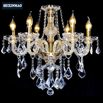 SHIXNIMAO LED Crystal Chandelier Home For Living Dining Room Lamp Indoor Modern Chandelier Lustre Crystal Light 110V-240V