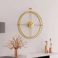 Modern and minimalist living room wall clock fashion atmosphere personality creative home decoration quartz clock Nordic clock