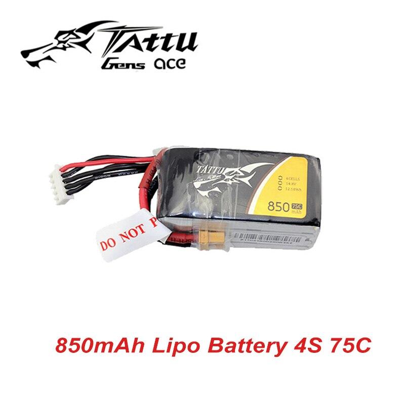 Tattu LiPo Battery 4S 850mAh 14.8V 75C Lipo Battery Pack with XT30 plugTattu LiPo Battery 4S 850mAh 14.8V 75C Lipo Battery Pack with XT30 plug