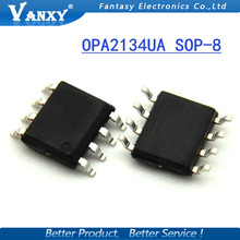 10 PCS de Alta Performance de ÁUDIO AMPLIFICADORES OPERACIONAIS OPA2134 OPA2134UA SOP8 SOP frete grátis