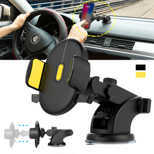 Adjustable Automatically Locking Phone Holder Mount Windshield Co-pilot Universal Car Phone Bracket Auto Interior Accessories