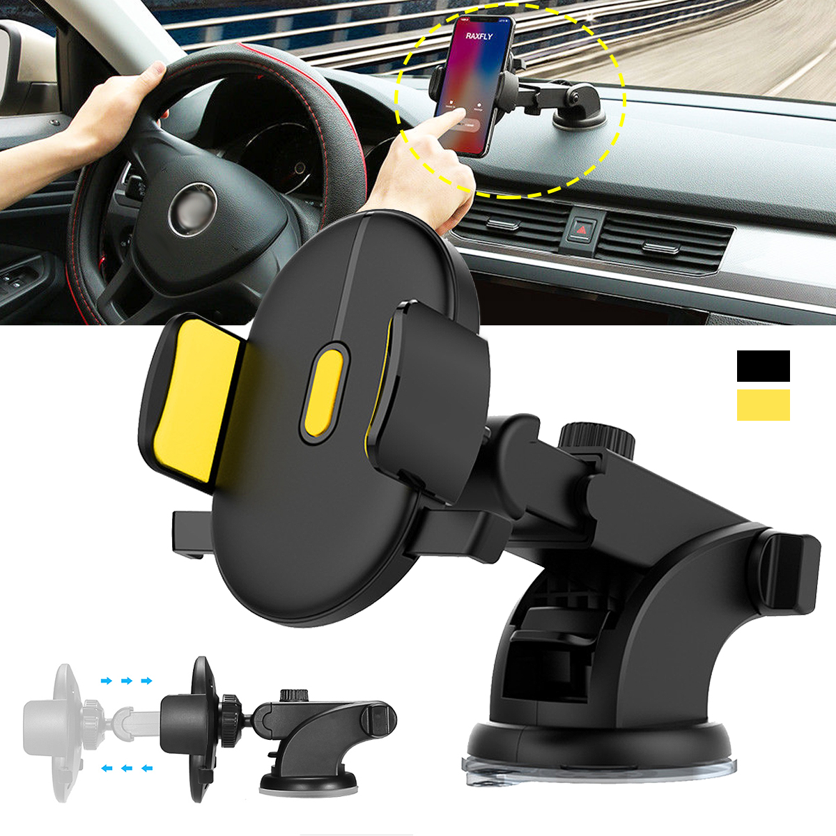Regolabile Bloccaggio Automatico Phone Holder Mount Parabrezza Co-pilota Universal Car Phone Staffa Accessori per Interni Auto