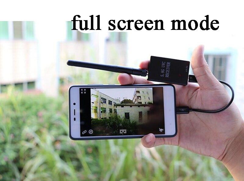 5.8g FPV Android Telefone Fixo Android FPV Récepteur Ordinateur Caméra Téléphone Affichage fpv Ensemble Caméra Pour Voilure Fixe Dron FPV RC