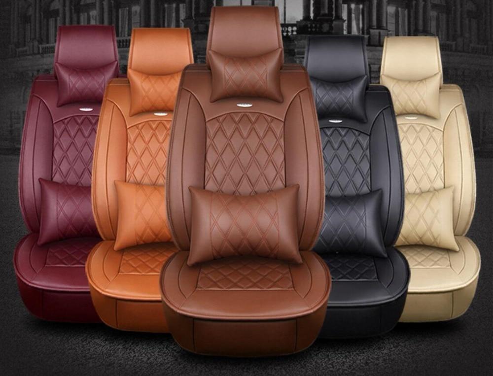 Housse de siège de voiture en cuir de vachette sur mesure pour Toyota Prius Venza Corolla RAV4 Camry Estima Previa Land Cruiser Prado Fortuner stylin