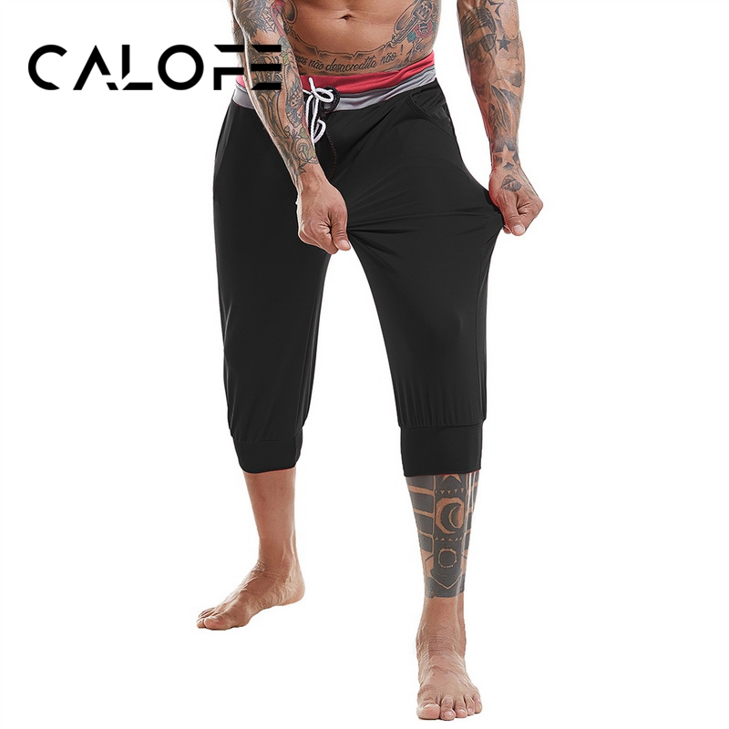 Running Running Pants 2019 Hot Men Running Pants Patchwork Sweatpants Sport Gym Pants Fitness Slim Jogger Elastic Waist Male Football Soccer Trousers