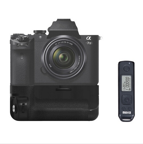Meike Professional Vertical Battery Grip Pro Battery Grip with 2.4GHz Wireless Remote Control for Sony A7R II A7 II as VG-C2EM meike mk ar7 built in 2 4g wireless control battery grip for sony a7 a7r a7s