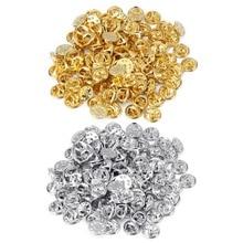 1 упаковка, золото с родиевым покрытием, медный зажим для галстука для ногтей, нагрудный штырь, задняя муфта, разброс, застежка-бабочка, держатель для значка, сделай сам, ювелирное изделие