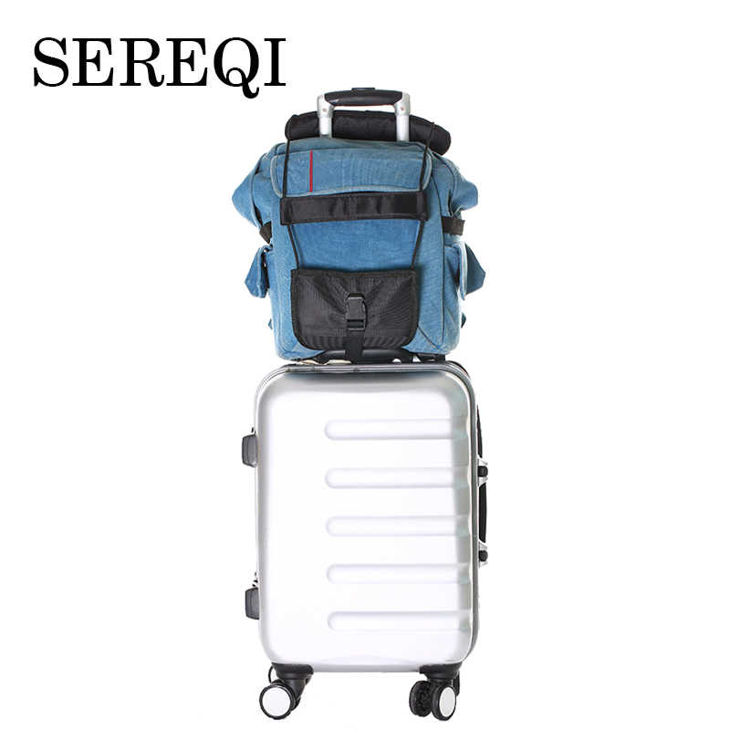 SEREQI Travel Elastic Telescopic Luggage Strap Travel Bag Parts Suitcase Fixed Belt Trolley Adjustable Travel Accessories