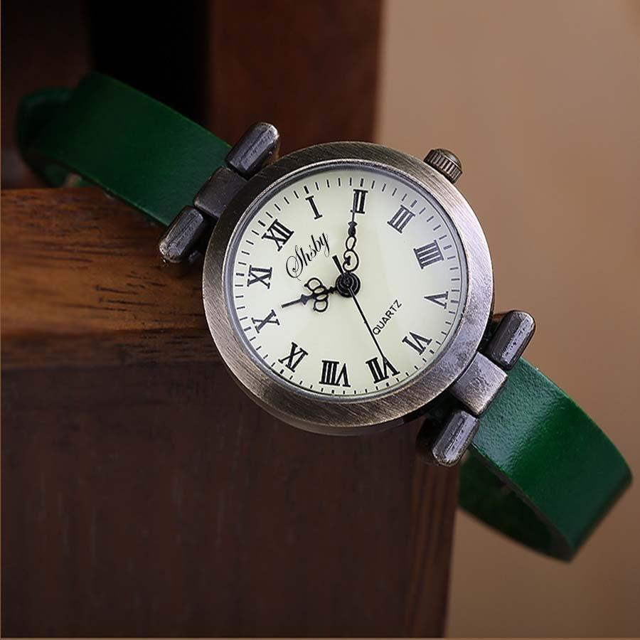 Shsby New fashion laris kulit perempuan menonton ROMA vintage yang - Jam tangan wanita - Foto 6