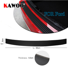 KAWOO For Ford Focus 3 4/Mondeo/Fiesta/Ecosport/Edge B-MAX Rubber Rear Guard Bumper Protect Trim Cover Sill Mat Pad Car Styling