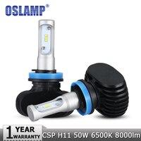 Oslamp H11 LED Car Headlight CSP Chips 50W 6500K 8000lm Led Fog Light Bulb Auto Headlamp