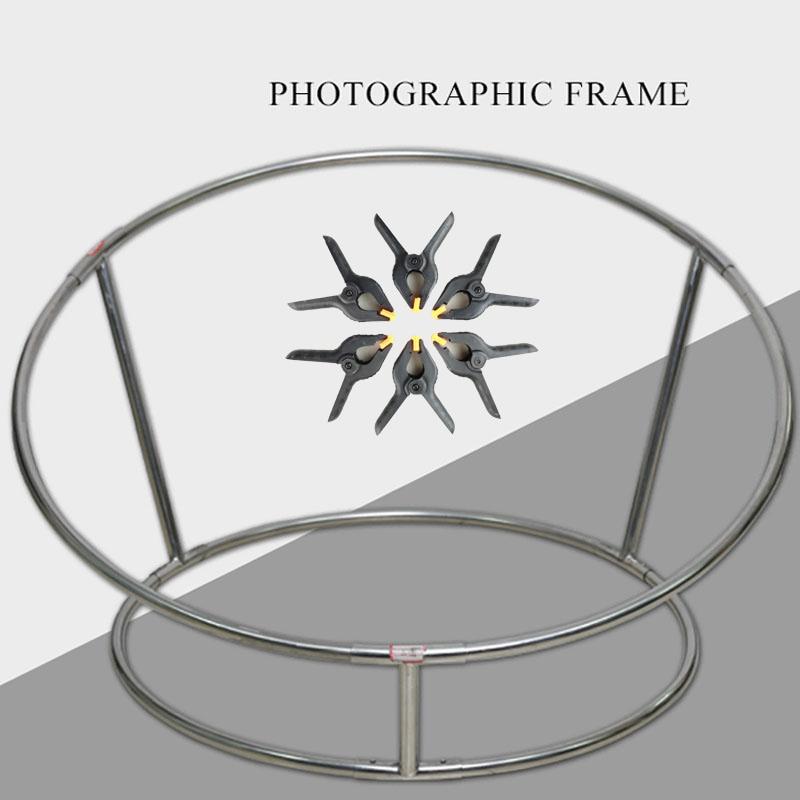 Newborn Photography Props Posing Steel Frame Sofa Bebe Accessoires Photographiques Posing Nest Round Shelf + 6pcs Clips