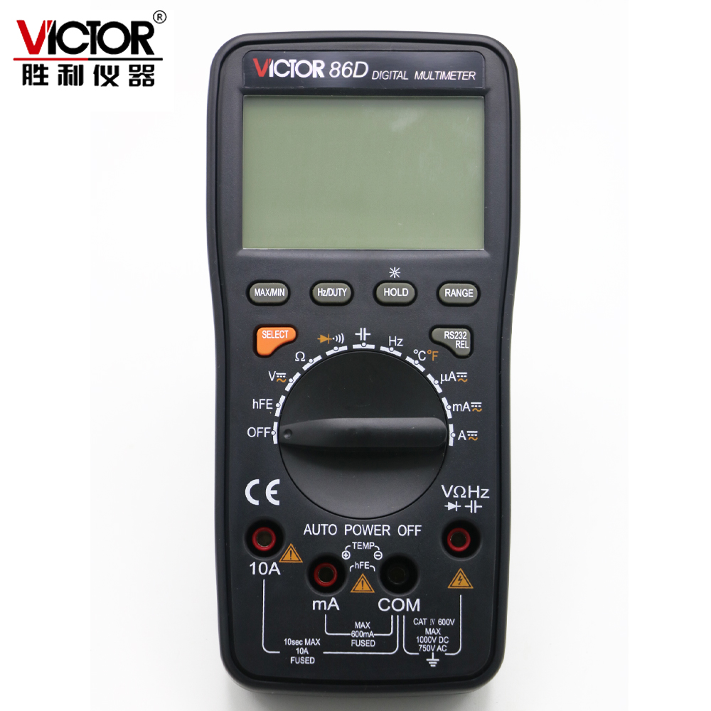 Victor VC86D 3 5 6 Digital Multimeter Meter Voltage Current Tester Usb to computer win7 8