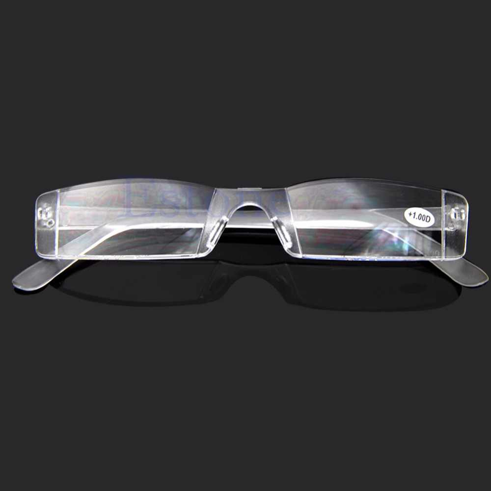 Gafas transparentes gafas de lectura sin montura bolsa presbicia 1,00-4,00 dioptrías