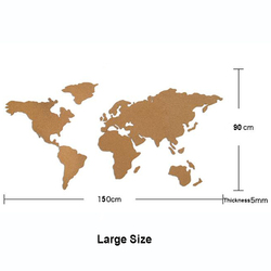 Große Größe Kork Holz Phellem Wand Welt Karte Büro Schule Zu Hause Dekoration Karte Kork Bord Aufkleber Pins Bord Holz Karte jumbo