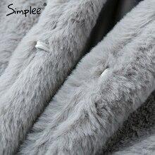 shaggy fur warm plush coat RK