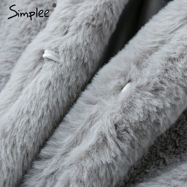 Elegant pink shaggy women faux fur coat street wear Autumn winter warm plush teddy coat Female plus size overcoat party 3