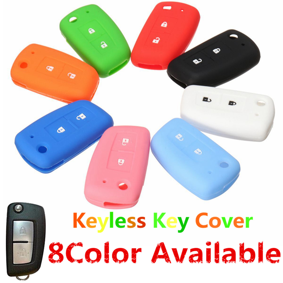2 Buttons Silicone Fob Remote Key Case Cover Shell For Nissan Qashqai Key Protector цена и фото