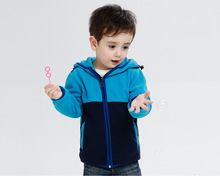 Color Block Cotton Spring Winter Fleece Boys Girls Jacket Hoodies Sweatshirts Girls Warm Coat Boys Outerwear In Stock KW-1634