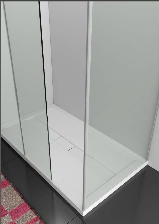 Das Beste Cupc Genehmigt Künstliche Stein Gehäuse Dusche Tablett Solide Oberfläche Stein Ultra-dünne Glas Bildschirm Pan Certro-1