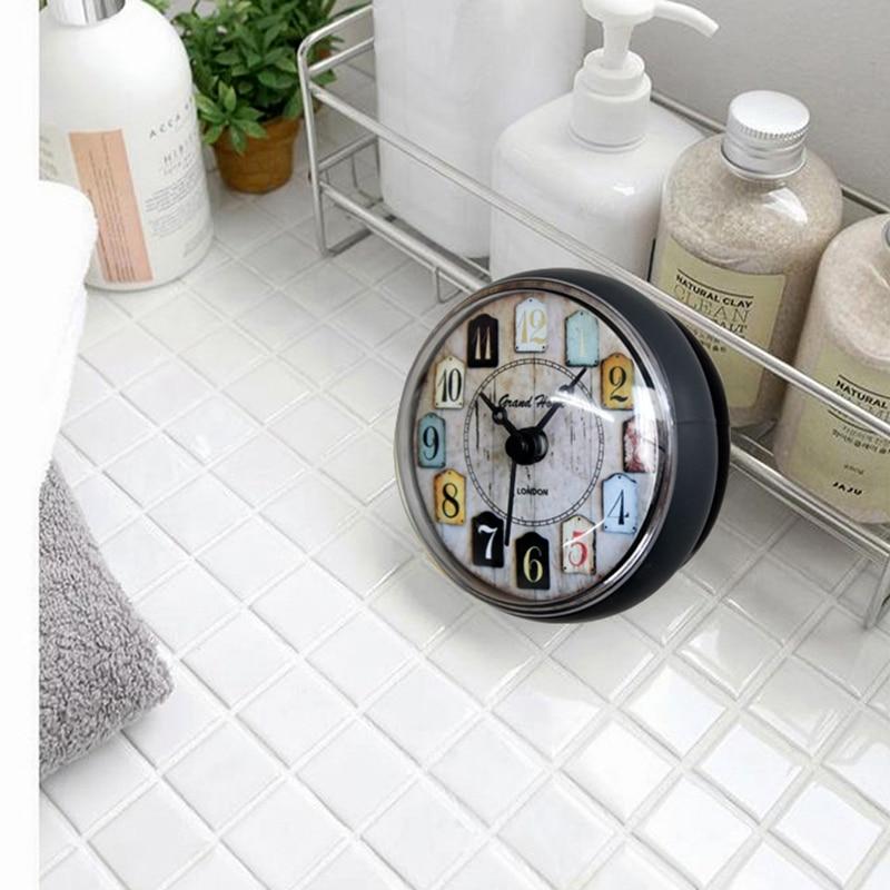 Badrum Kök Vattentät duschvägg mini vattenmelklocka Klocka sugkopp - Heminredning - Foto 3