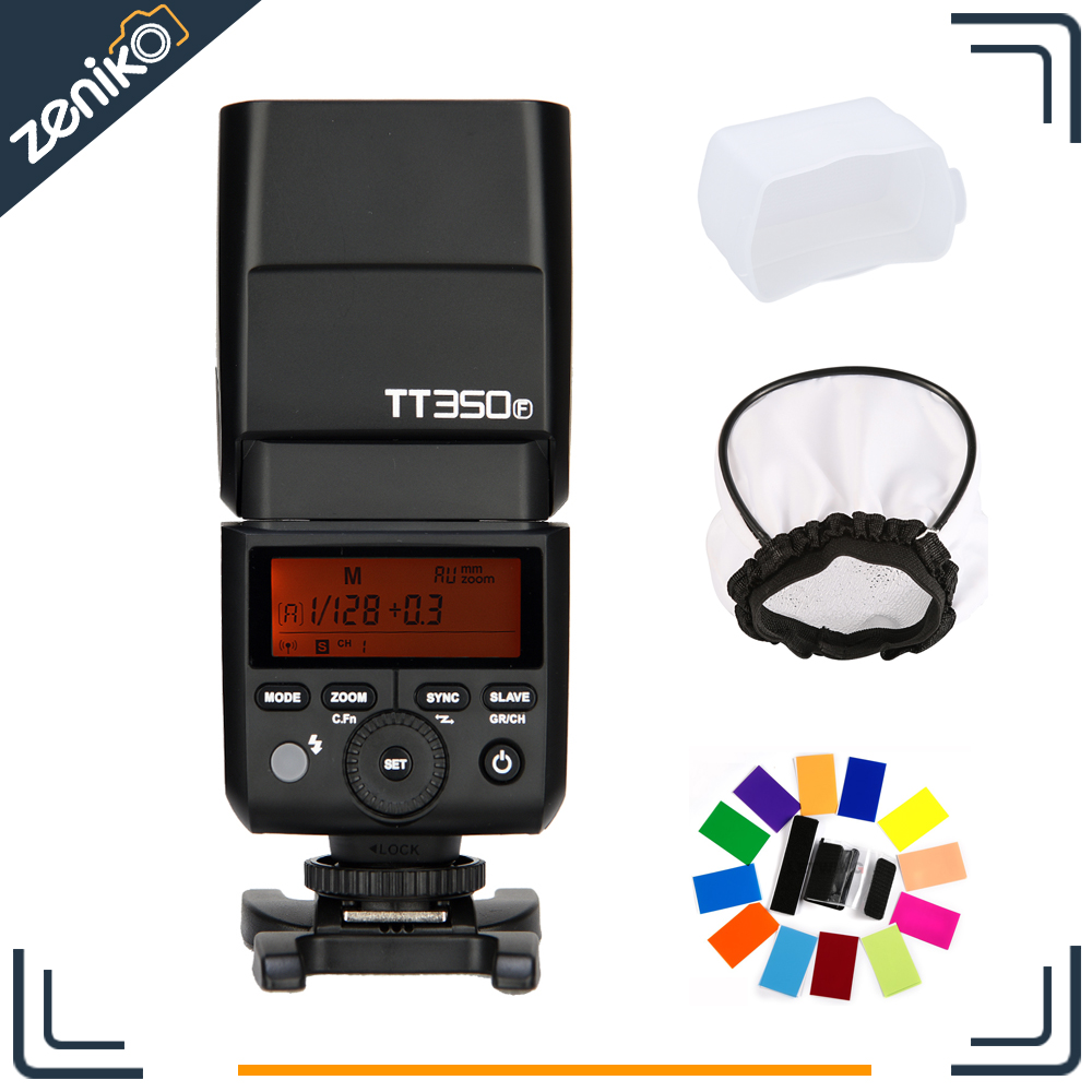 New Arrival! Godox Thinklite Mini Pocket Flash TTL TT350F Camera Flash High Speed 1/8000s GN36 for Fujifilm Digital Camera godox mini thinklite i ttl tt350n camera flash high speed 1 8000s gn36 for nikon digital camera