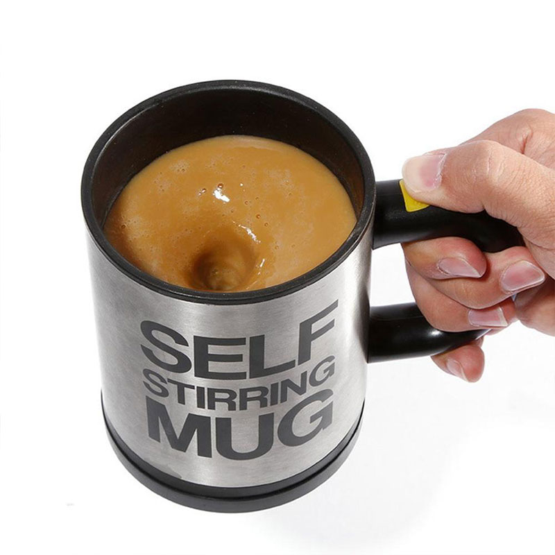 Novelty Stainless Steel Automatical Electric Self Stirring Mug Coffee Tea Milk Mixing Drinking Auto Cup