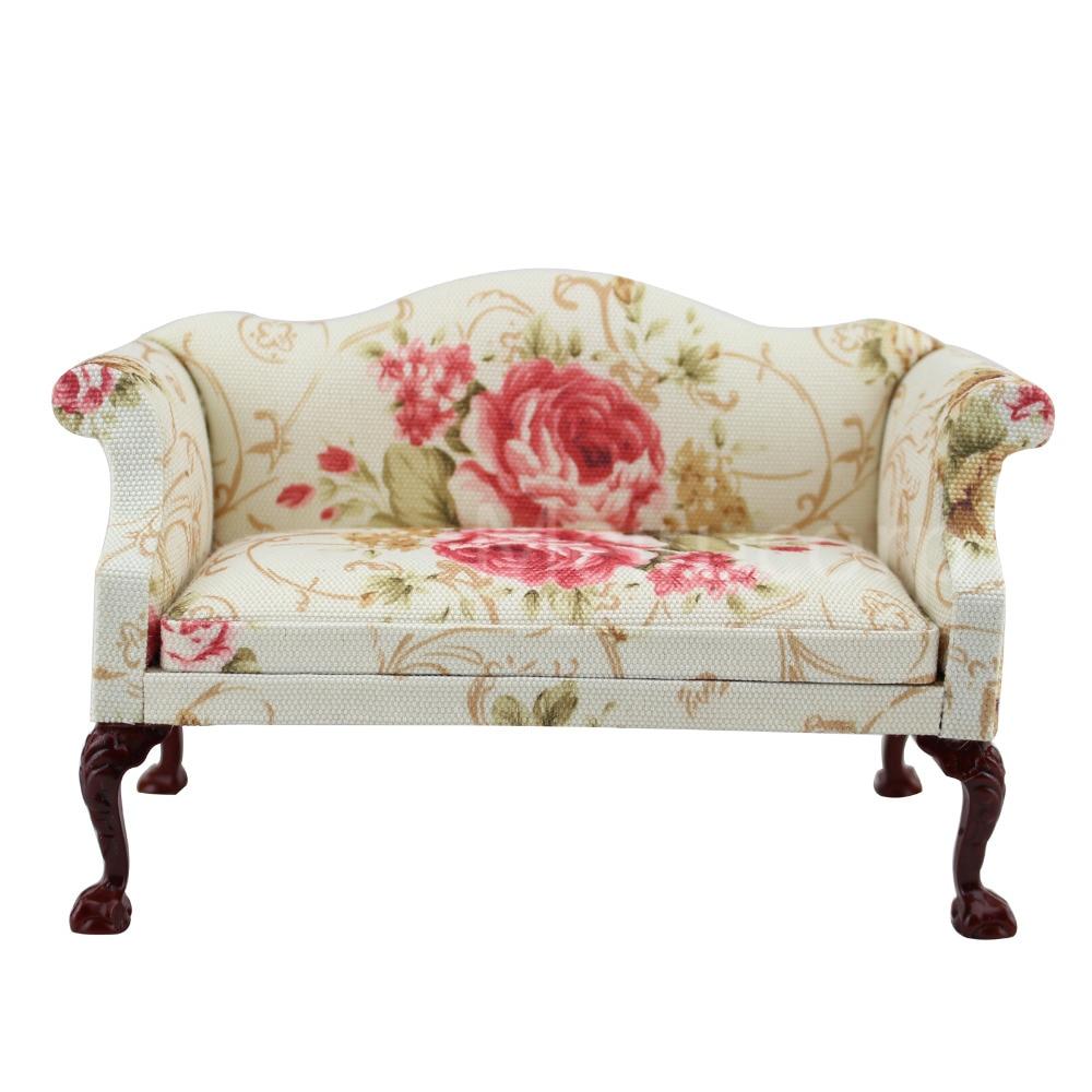 Fine BJD 1:6 DOLL miniature Furniture Blooming petals Fabric sofa Handmade fine bjd 1 6 doll miniature furniture seat sofa high quality classical