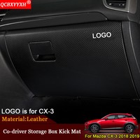 QCBXYYXH Car Styling Car Co Driver Storage Box Kick Mats Cover Stickers Protection Pad Auto Accessories