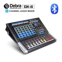 Debra Audio DX 6 6 Channel Audio Mixer dj controller Sound Board with 24 DSP Effect USB Bluetooth XLR Jack Aux Input