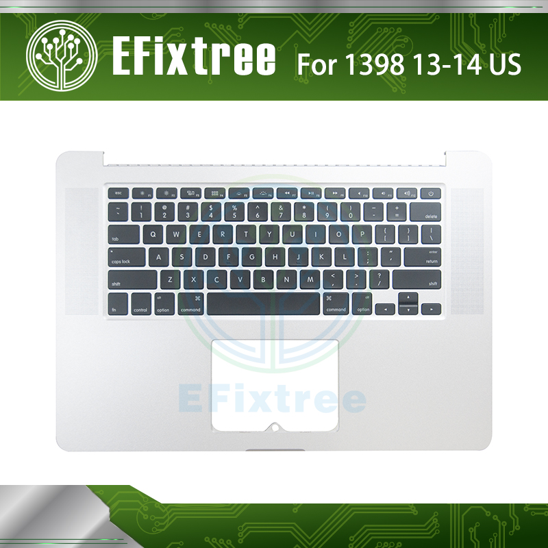 New A1398 Topcase With Keyboard US For Macbook Pro 15'' C Housing Top Upper Case With Keyboard 2013 2014 Year original new topcase 11 6 for macbook air a1370 a1465 palmrest top case with us keyboard backlight no touchpad 2013 2015