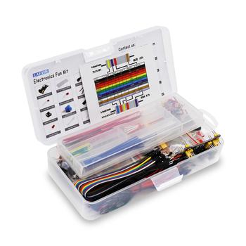 Elektronika zabawa zestaw moduł zasilania kabel mostkujący 830 Breadboard Starter zestaw do arduino tanie i dobre opinie LAFVIN