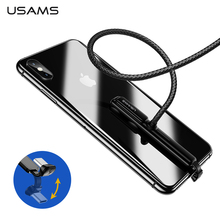 USAMS Type C Cable 5V 3A 18W Fast Charging USB C Cable Game USB Wire 180 Degree fast Braided Data Sync for Samsung Note 9 S8