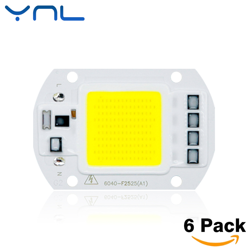 6pcs/lot COB LED Lamp Chip 20W 30W 50W 220V 110V Cold Warm White Input Smart IC Driver Fit For DIY LED Floodlight Spotlight [mingben] led cob chip 20w 30w smart ic 220v 110v input ip65 integrated driver easy to diy for floodlight cold white warm white