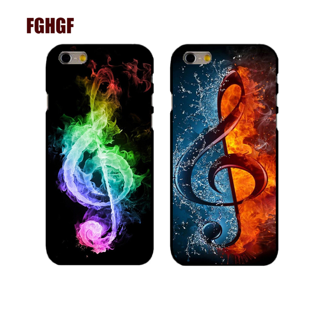 New Hot Music Melody Symbols Phone Hard Case Cover For Iphone 4 4s 5