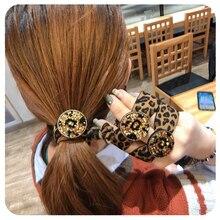 Hot Fashion Korea Girls Hair Accessories Leopard Print Elastic Holder Rope/Hair Band