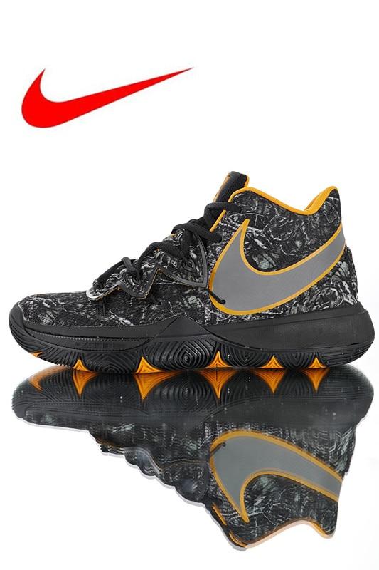 new product e97cb eba4b Nueva llegada Original Nike Kyrie 5 generación zapatos de baloncesto de los  hombres blanco transpirable antideslizante resistente a la abrasión AO2919  902 ...