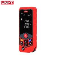 UNI-T LM50D 50M Digital Medidor de Distância a Laser Portátil Alimentado Por Bateria Trena a Laser Range Finder Medidor de Distância A Laser