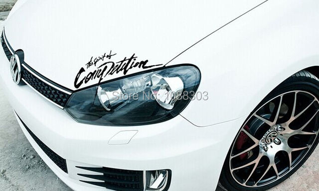 Car Styling The Spirit Of Competition Car Sticker Decals Rally Racing  Stickers For Auto Engine Hood
