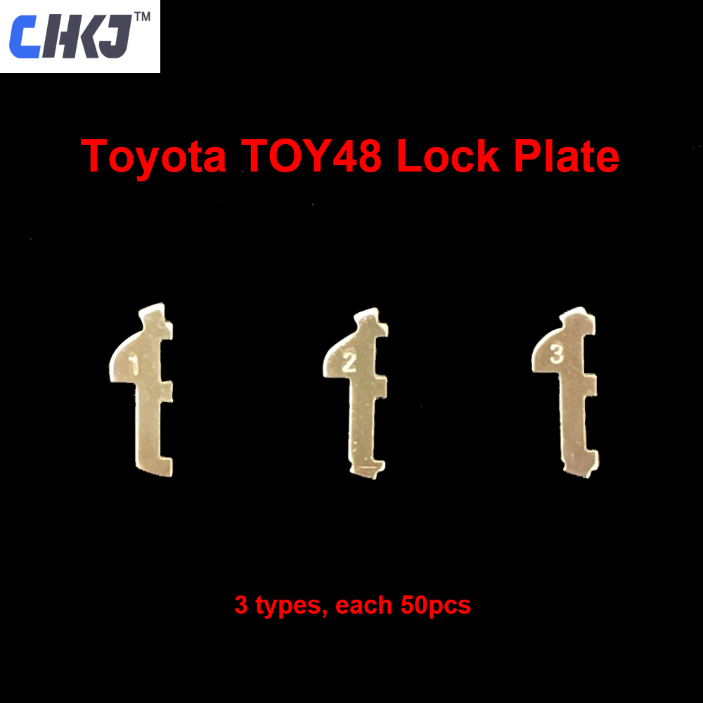 CHKJ 150pcs/lot TOY48 Car Lock Reed Plate For Toyota Car Lock Repair Kit Accessories with 10pcs+ Spring Locksmith Supplies