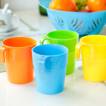 1 Pc 201ml 300ml Creative Plastic Mug Cup Coffee Milk Travel Mugs Brief Solid Home Office Water Portable Handgrip Tea