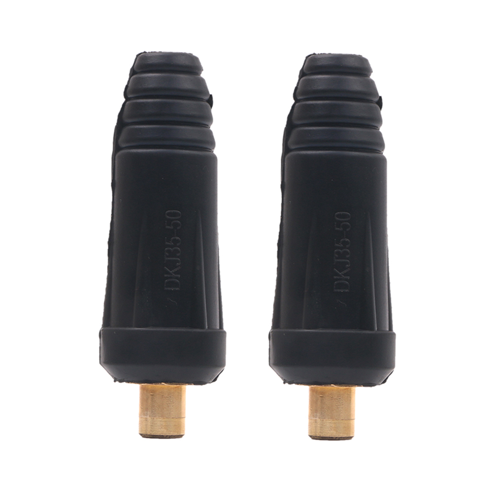 2pcs DKJ35-50 Welder Quick Fitting Male Cable Connector Plug