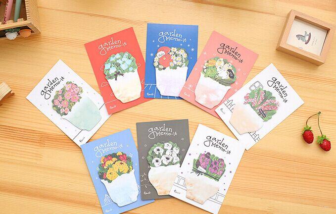 Lovely Potted flower Sticky Notes Memo Pad post it Sticky Note Sticky N Times Notebook office school supply Gift Stationery
