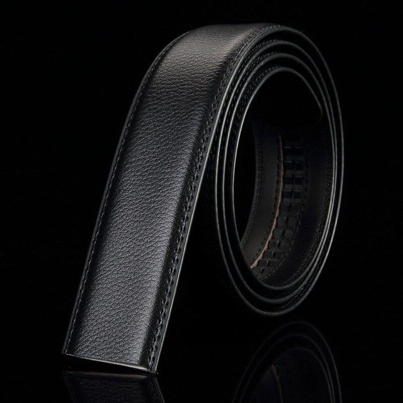 2pcs Fashion 3.5cm Wide Genuine Cow Leather Belt Without No Buckle Straps Designer Belts Men High Quality Cinturon Hombre